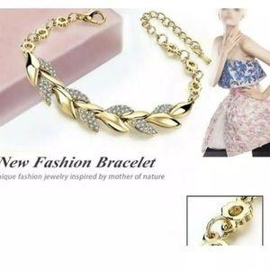 Pink Magnolia Jewelry - New Exquisite Rhinestone Crystal Gold Bracelet